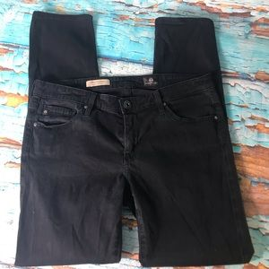 AG Adriano Goldschmied Black Stevie Ankle Jeans